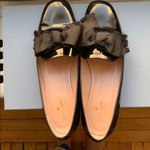 Black patent Kate Spade Gino Bow Flats